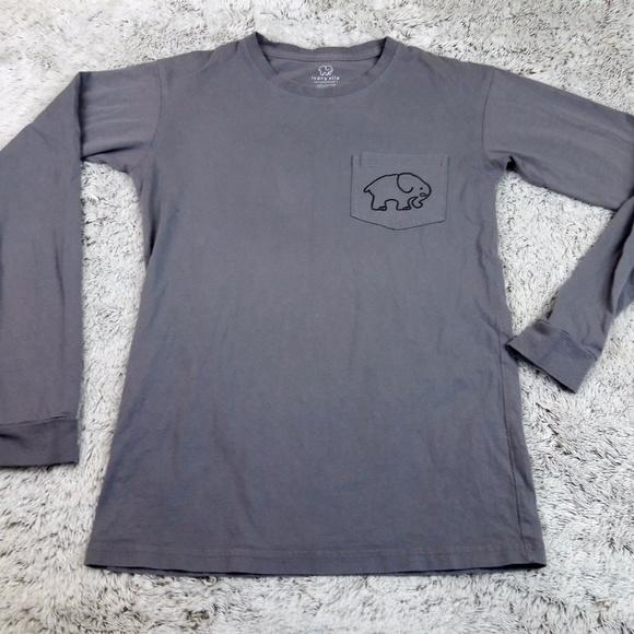 7d100a37a ivory ella Tops - Ivory Ella Gray Long Sleeve Pocket Tee Elephant